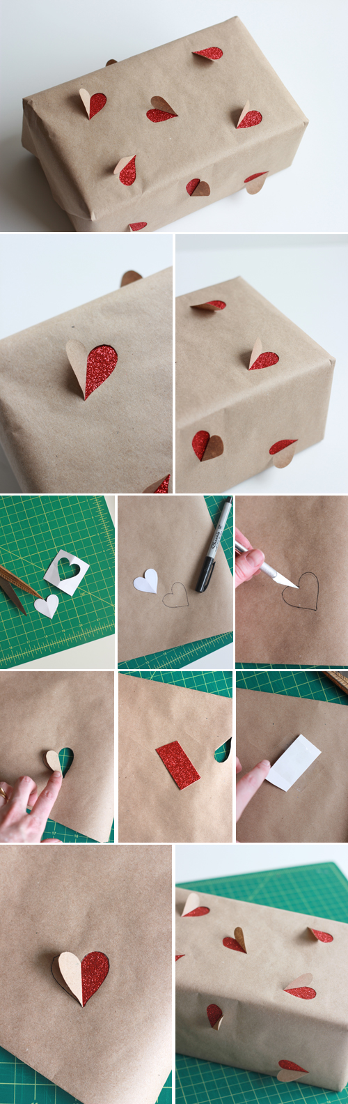 Simple Valentine's Day gift wrapping ideas