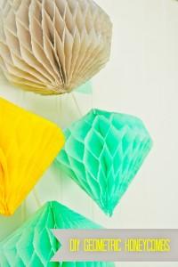 DIY Geometric Honeycombs