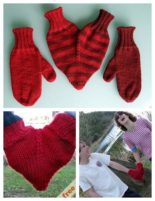 DIY Couple's Mittens   Fun Last minute Valentines day Idea. You will love it :)
