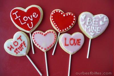 Valentine Sugar Cookie Pops