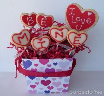 Valentine Sugar Cookie Pops and Gift Box