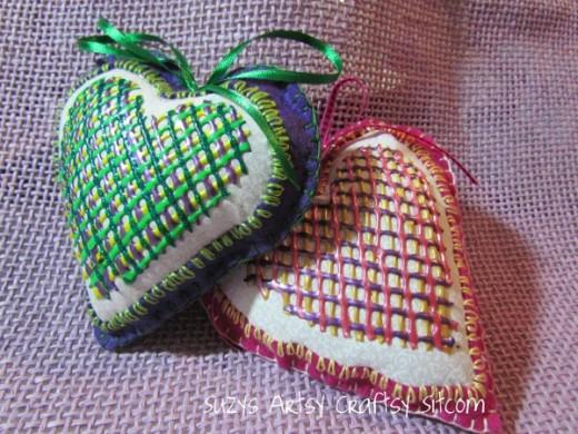 Valentine Heart Sachets | Valentines Day Ideas