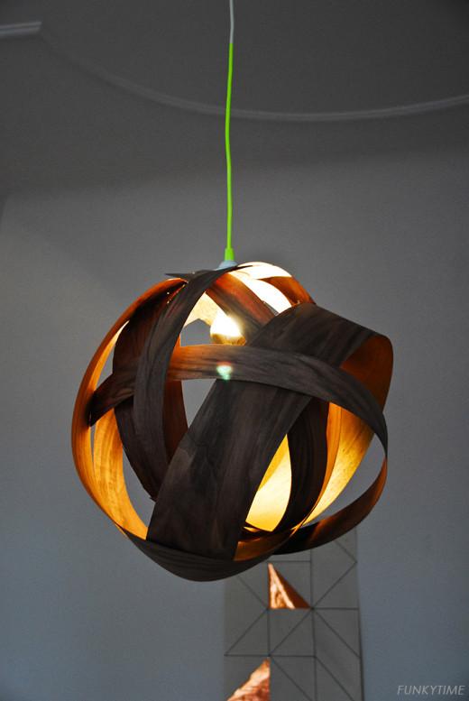Veneer Pendant Lamp | Funkytime | DIY Home Decor