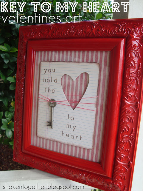 You Hold the Key to my Heart Valentines Art | Valentines Day Ideas | DIY