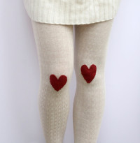 Heart patch tights | DIY