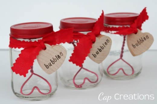 Cap Creations: Adorable DIY Valentine Bubbles