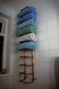 Copper Pipe Towel Rail