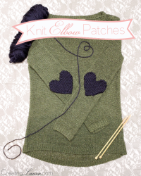 Elbow Patch Knitting Pattern | Creating Laura