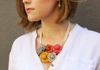 DIY Collar flores de piel | DIY flowers necklace