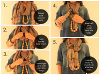 How To Tie A Scarf In a Weave