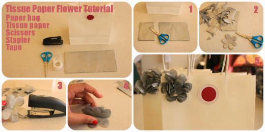 DIY Flower Tissue Paper Decor