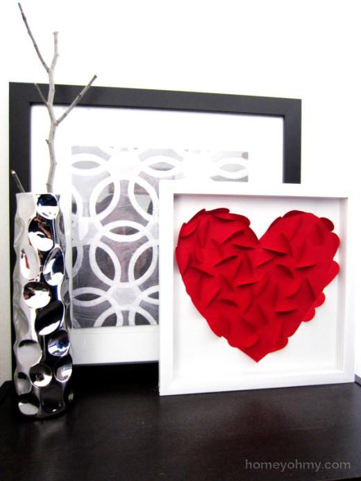 DIY Heart Wall Art | DIY Valentines Day Gift Ideas