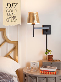 DIY Project: Gold Leaf Lamp Shade | Home Decor