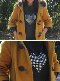 DIY Studded Heart Sweatshirt From Henry Happened