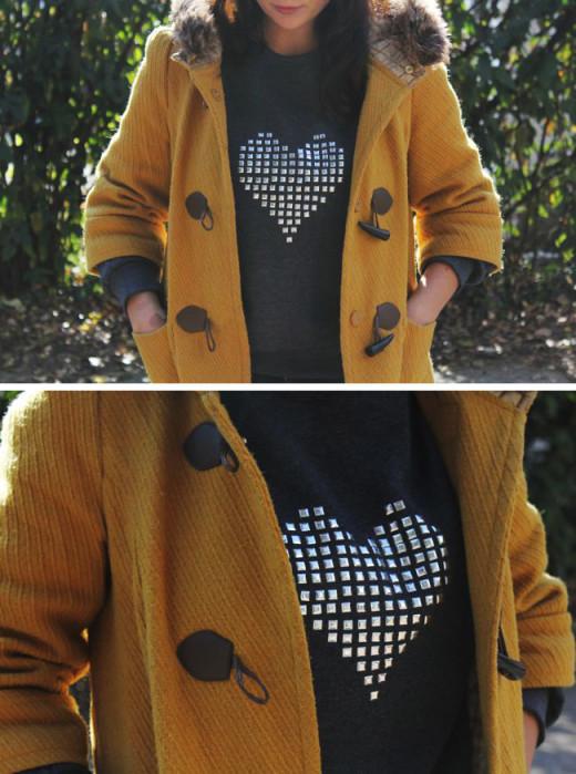 DIY Studded Heart Sweatshirt From Henry Happened