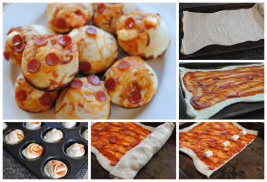 Stuffed Pizza Cupcakes.