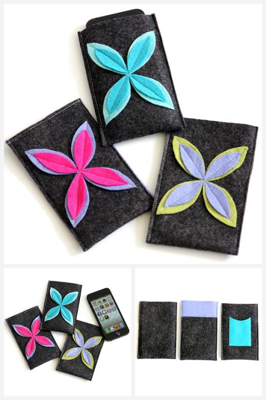 Felt Flower Design iPhone Case Tutorial & Template | DIY