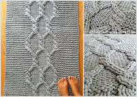DIY giant knitted rug