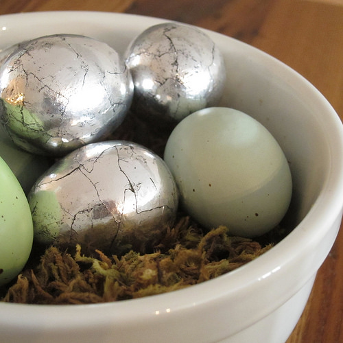 Just Crafty Enough – Project: Antiqued Silver Eggs