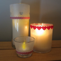 Faux Frosted Candle Holders