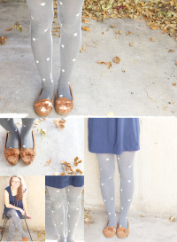 DIY: Patterned Heart Tights