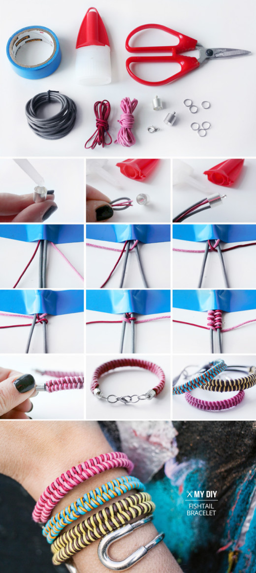 Fishtail Braid Bracelet | From I SPY DIY
