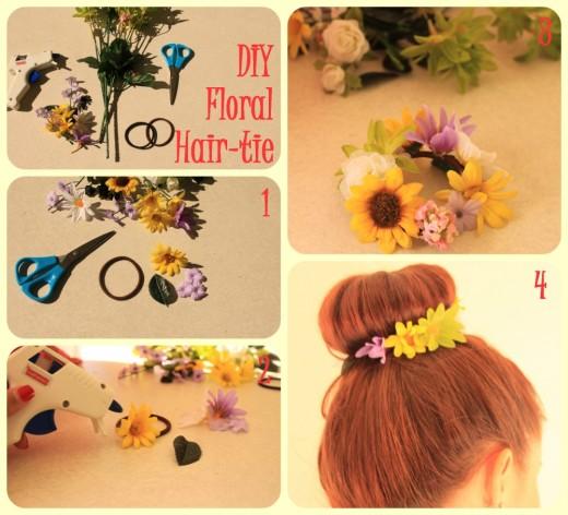 DIY Flower Hair Tie