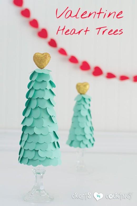 Easy DIY Valentines Heart Trees