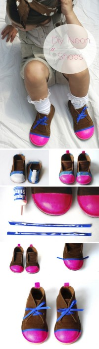 DIY Neon Shoes | Kids Fashion