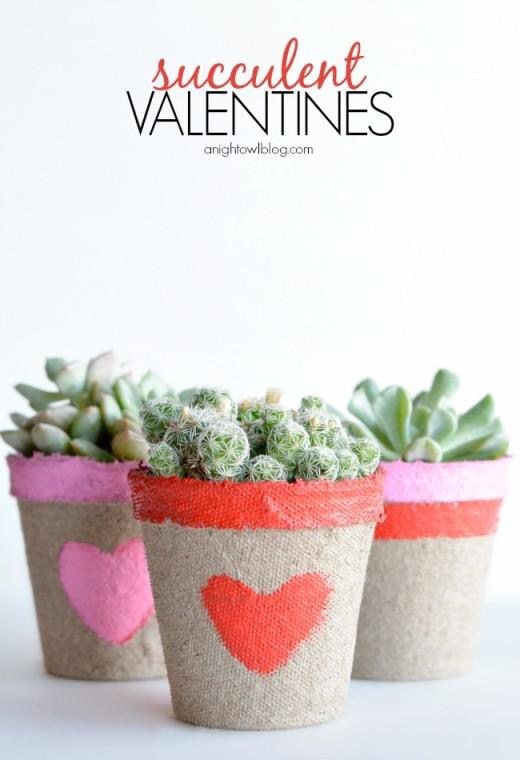 Succulent Valentine | DIY valentines day Ideas