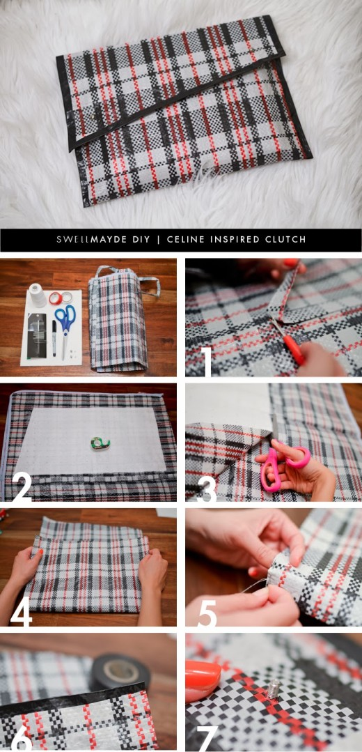 DIY | CELINE INSPIRED PLAID CLUTCH