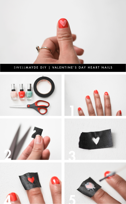DIY | VALENTINE'S DAY HEART NAILS | From swellmayde