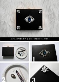DIY | EMBELLISHED CLUTCH