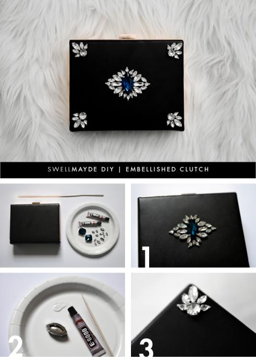 DIY | EMBELLISHED CLUTCH
