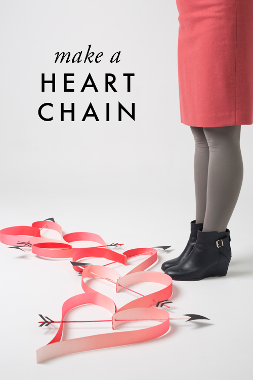 Oversized heart chain DIY | Valentines