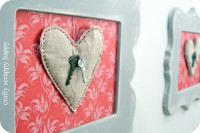 Valentines Decor—you hold the key to my heart! From Crafty Scrappy Happy | Great Valentines Day Gift
