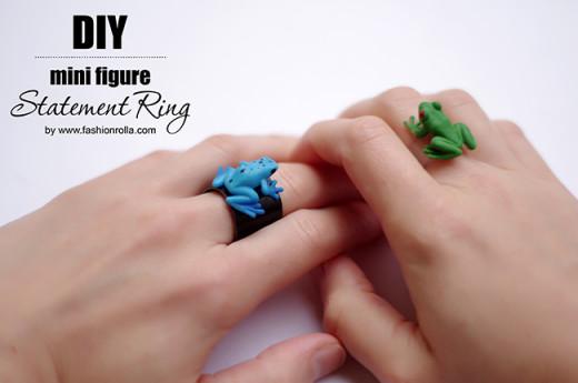 [DIY] Mini Figure Statement Ring | FashionRolla