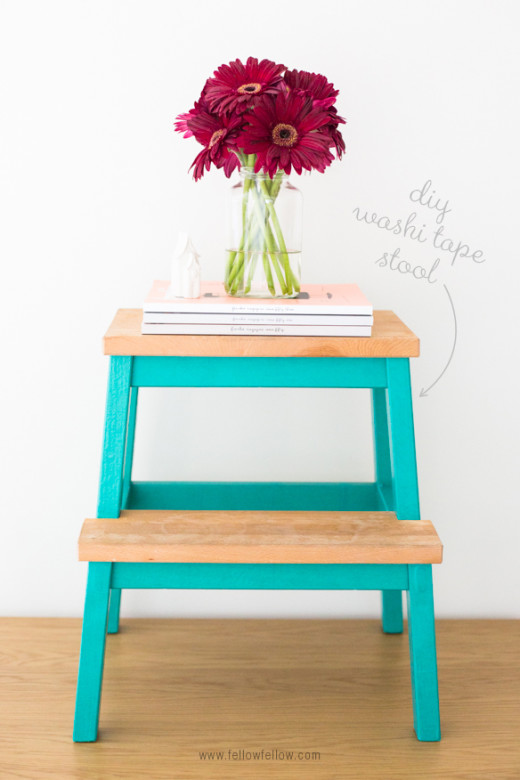 DIY Washi Tape Stool