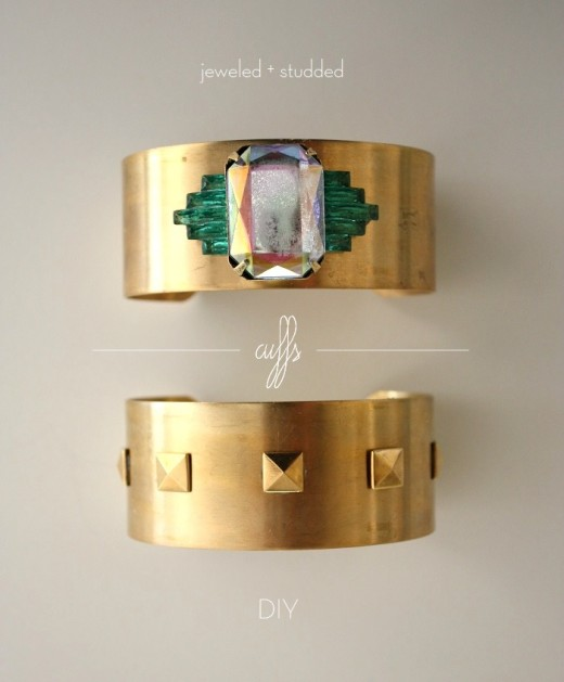 LIFE IN MOD: diy | jeweled + studded cuffs