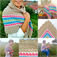 My Rose Valley: The Nordic Shawl Pattern