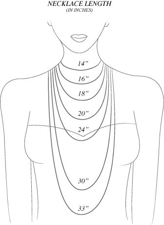 Necklace lengths – good to know for when you're ordering online and can't try it on