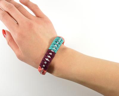 Colorblocked Rhinestone Bracelet