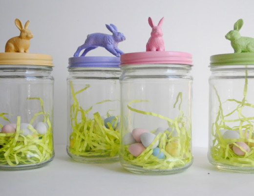 Easter bunny treat jars | DIY