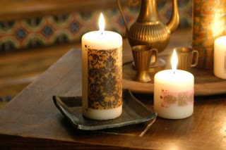 Cathie Filian: Make it: Tissue Transfered Candles