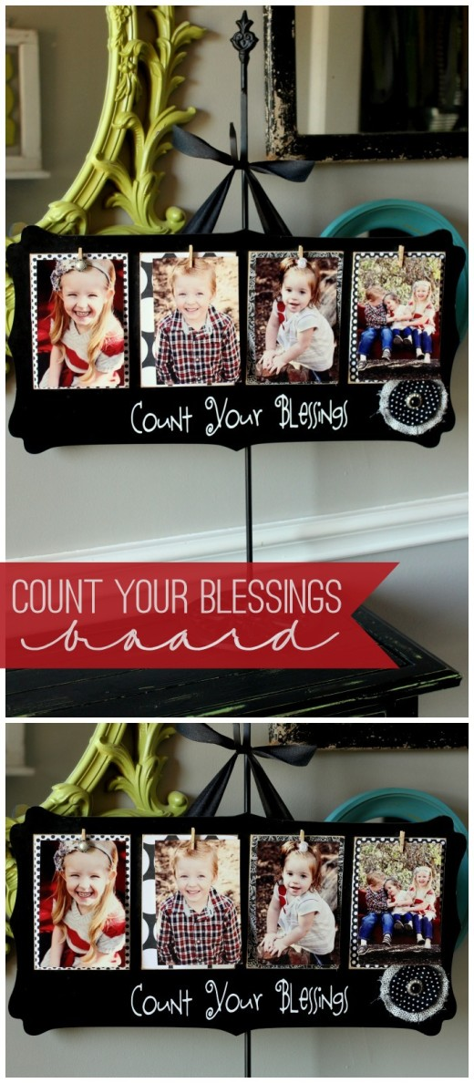 Count Your Blessings Photo Board | Great gift idea for Christmas, Mother's Day