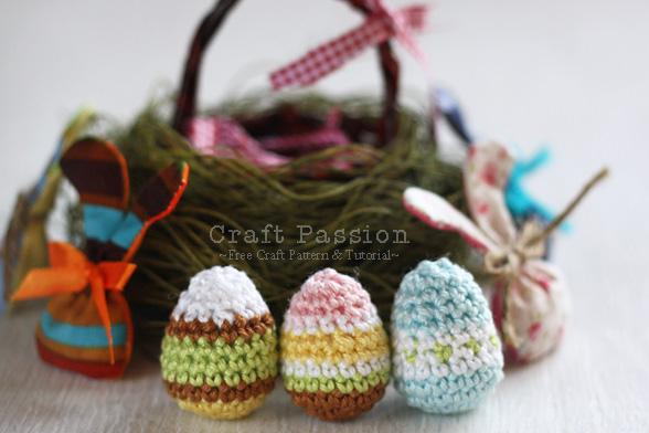 Crochet Pattern Mini Easter Eggs Free Pattern Tutorial Diy