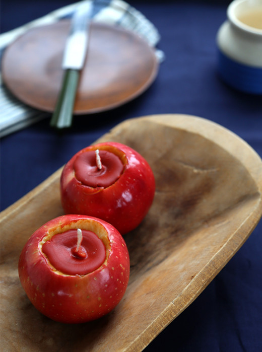 DIY Apple Candles From Say Yes