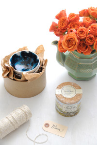 DIY Brushstroke Glazed Mini Bowls | Diy Mothers Day Gifts |From Creature Comforts