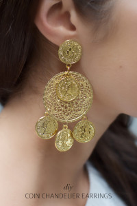 DIY DOLCE & GABBANA INSPIRED COIN EARRINGS From a pair & a spare