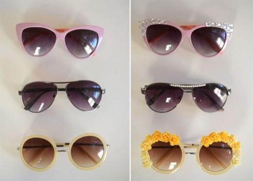 DIY: Embellished Sunglasses | Cupcakes & Cashmere